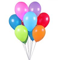 Order a whole bunch of colorful helium balloons with delivery