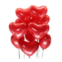 15 red balloons Heart