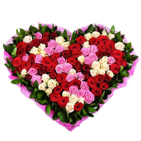 Bouquet Rose heart