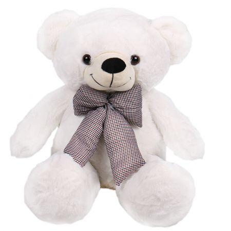 Product White teddy with a bow 60 cm