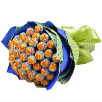 Sweet chupa-chups bouquet with delivery