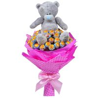Buy bouquet of lollipop and teddy bear
