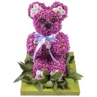 Bouquet Purple bear