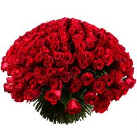 Huge bouquet of roses