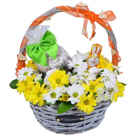 Bouquet Easter flower basket