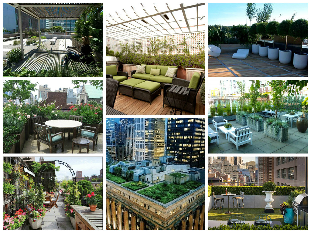 Beautiful rooftop gardens